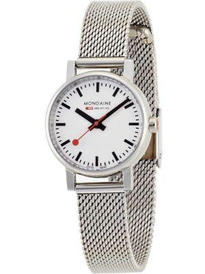 Womens Mondaine Evo petite Quartz 26mm Steel Mesh Bracelet A658.30301.11SBV Watch