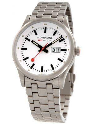 Mens Mondaine Sport NightVision 41mm Steel Bracelet A669.30308.16SBM Watch