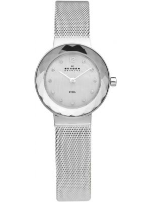 Womens Skagen Leonora faceted glass stainless steel 456SSS Watch