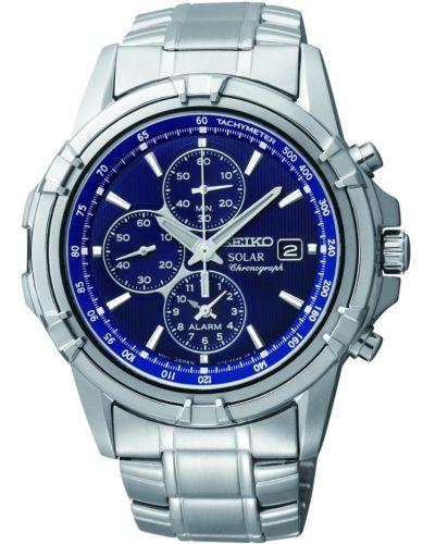 Mens Seiko Solar Alarm Chronograph SSC141P1 Watch