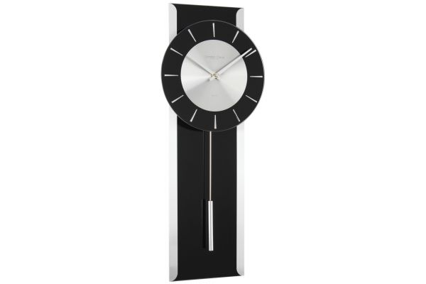 black glass pendulum wall clock