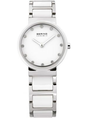 Womens Bering Ceramic white crystal set 10729-754 Watch