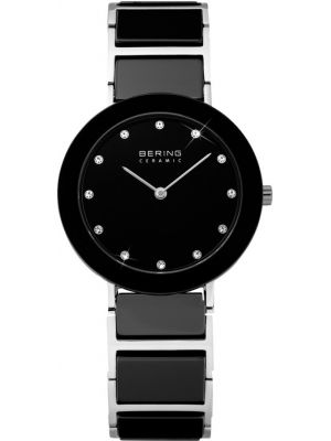 Womens Bering Ceramic crystal set black 11429-742 Watch