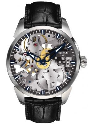 Mens Tissot T-Complication Squelette (Skeleton) T070.405.16.411.00 Watch