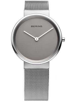 Mens Bering Classic Plain grey milanese strap 14539-077 Watch