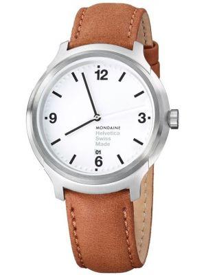 Mens Mondaine Helvetica No.1 Bold 43 MH1.B1210.LG Watch