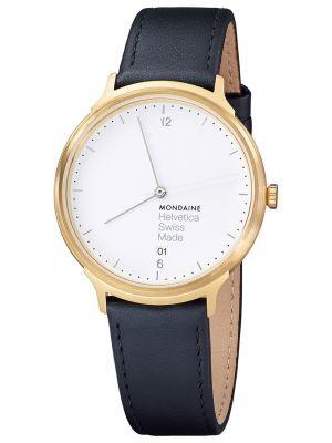 Mens Mondaine Helvetica No.1 Light 38 MH1.L2211.LB Watch