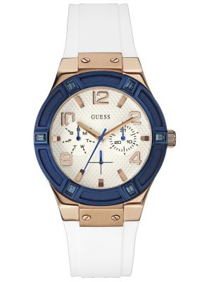 Womens Guess Jet Setter Rose White and Blue W0564L1 Watch