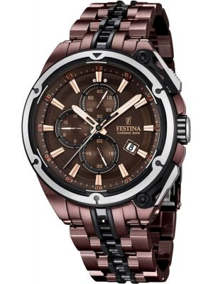 Mens Festina ChronoBike brown and black limited edition F16883/1 Watch