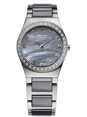Womens Bering Ceramic crystal set mother of pearl 32426-789 Watch