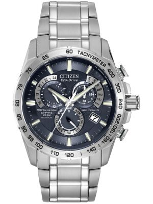 Mens Citizen Radio Controlled titanium chronograph AT4011-57L Watch