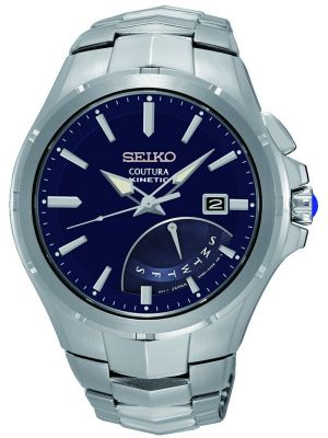 Mens Seiko Coutura kinetic stainless steel SRN067P1 Watch