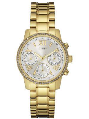 Womens Guess Sunrise gold plated bracelet W0623L3 Watch