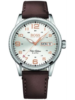 Mens Hugo Boss Pilot Edition brown leather 1513333 Watch