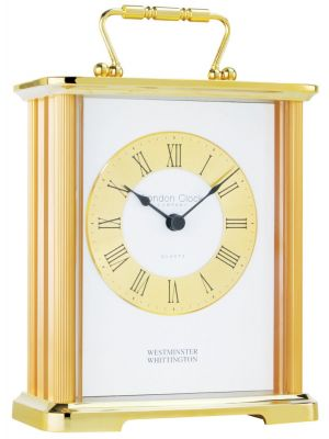 Westminster Chime Carriage Clock with Gold Finish Top | 02062