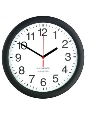 Office Clock with Radio Controlled Accuracy and Clear Dial | 36012