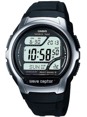 Mens Casio Wave Ceptor Black Multi Band WV-58U-1AVEF Watch