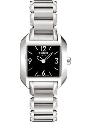 Womens Tissot T Wave square stainless steel T02.1.285.52 Watch