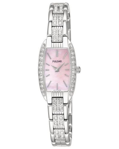 Womens Pulsar  Dress Wear stainless steel crystal set PEG987X1 Watch