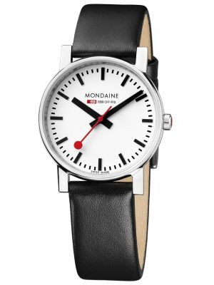 Mens Mondaine Evo Quartz 35mm Black Strap A658.30300.11SBB Watch