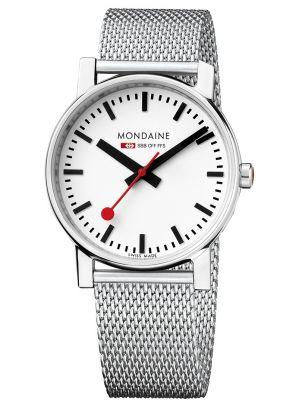 Mens Mondaine Evo Quartz 35mm Steel Mesh Bracelet A658.30300.11SBV Watch