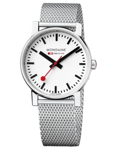 Mens Mondaine Evo Quartz 35mm Steel Mesh Bracelet A658.30300.11SBV Watch