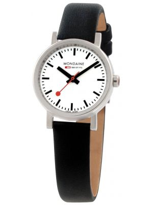 Womens Mondaine Evo petite Quartz 26mm Black Strap A658.30301.11SBB Watch