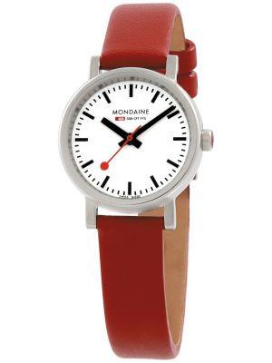 Womens Mondaine Evo petite Quartz 26mm Red Strap A658.30301.11SBC Watch