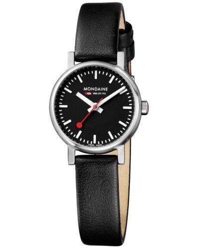 Womens Mondaine Evo petite Quartz 26mm Black Strap A658.30301.14SBB Watch