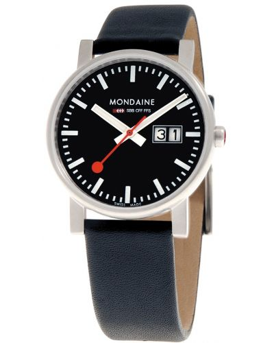 Mens Mondaine Evo Big Date 35mm Black Strap A669.30300.14SBB Watch