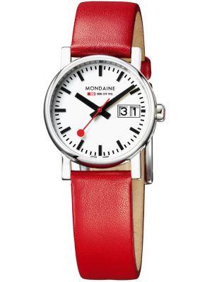 Womens Mondaine Evo Big Date Red Strap A669.30305.11SBC Watch
