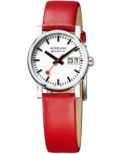 Womens Mondaine Evo Big Date Red Strap A669.30305.11SBC Watch