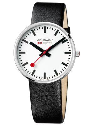 Mens Mondaine Giant 42mm Black Strap A660.30328.11SBB Watch