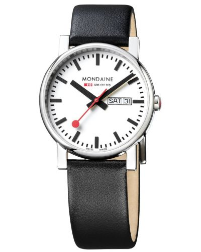 Mens Mondaine Evo Day Date 38mm Black Strap A667.30344.11SBB Watch