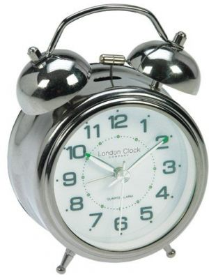 Twin bell alarm clock with luminous hands | 32376