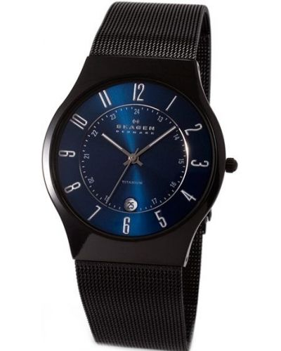 Mens Skagen Grenen titanium milanese strap T233XLTMN Watch