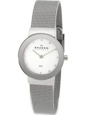 Womens Skagen Freja stainless steel crystal set 358SSSD Watch