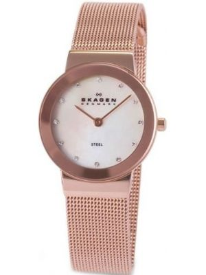 Womens Skagen Freja crystal set rose gold 358SRRD Watch