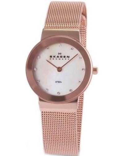Womens Skagen Freja crystal set rose gold 358SRRD Watch