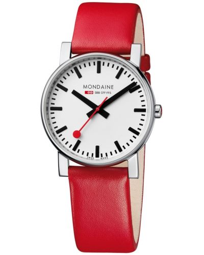 Mens Mondaine Evo 38mm Red Strap A660.30344.11SBC Watch