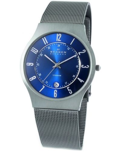 Mens Skagen Grenen grey stainless steel milanese strap 233XLTTN Watch