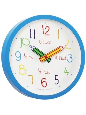 Colouring Box Blue Tell the Time Wall Clock | 24154