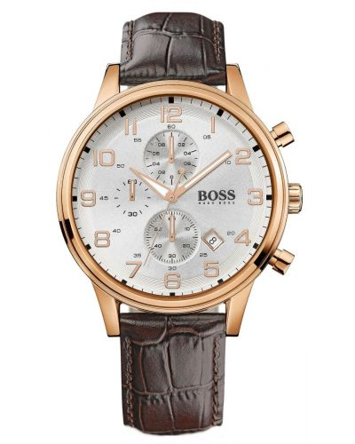 Mens Hugo Boss Aeroliner Rose Gold Chrono 1512519 Watch