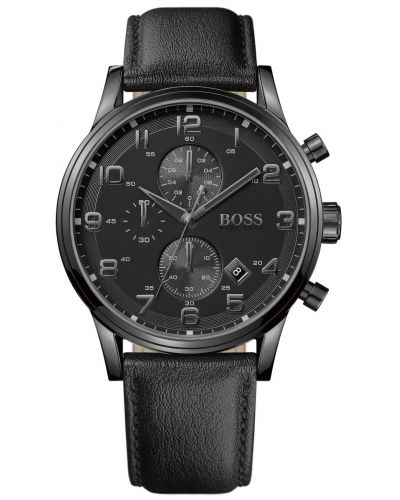 Mens Hugo Boss Aeroliner Gents Black Chrono 1512567 Watch