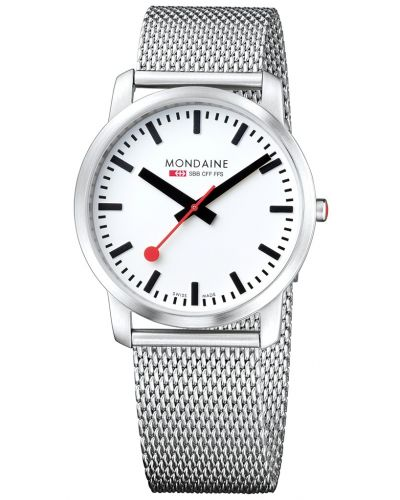 Mens Mondaine Simply Elegant 41mm Mesh Bracelet A638.30350.16SBM Watch