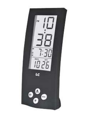 Tall Black Digital Alarm Clock with See Through Display | 255/4396