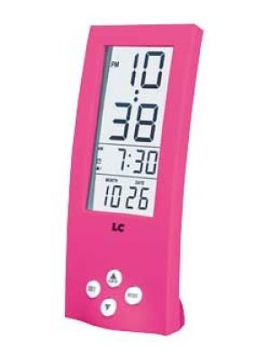 Tall Pink Digital Alarm Clock with See Through Display | 255/4413