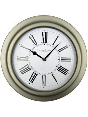 Porthole Style Wall Clock with Gun Metal Colour Case   20249