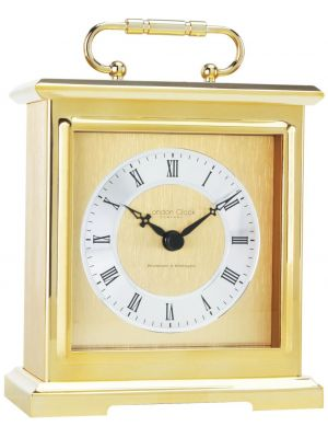 Gold Carriage Clock with Roman Dial and Westminster Chime | 02101