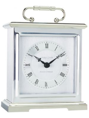 Chrome Quartz Clock with Westminster and Whittington Chime | 03036